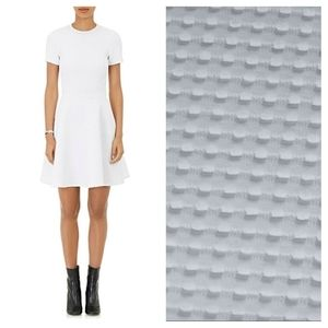 Opening Ceremony white. Jacquard textured fit and